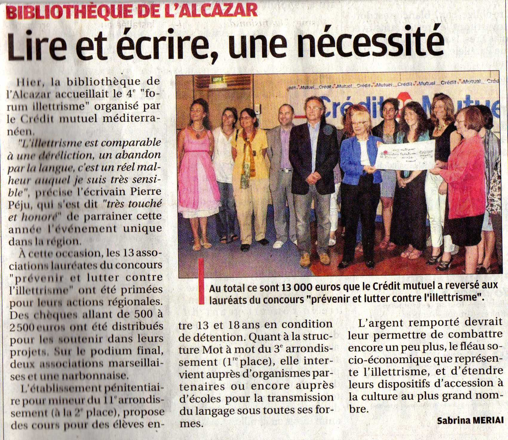 article journal La Provence juin 2013